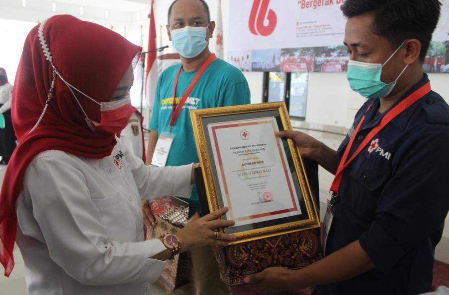 Bergerak Bersama Untuk Sesama, Tema HUT PMI ke-76 Kabupaten Polman