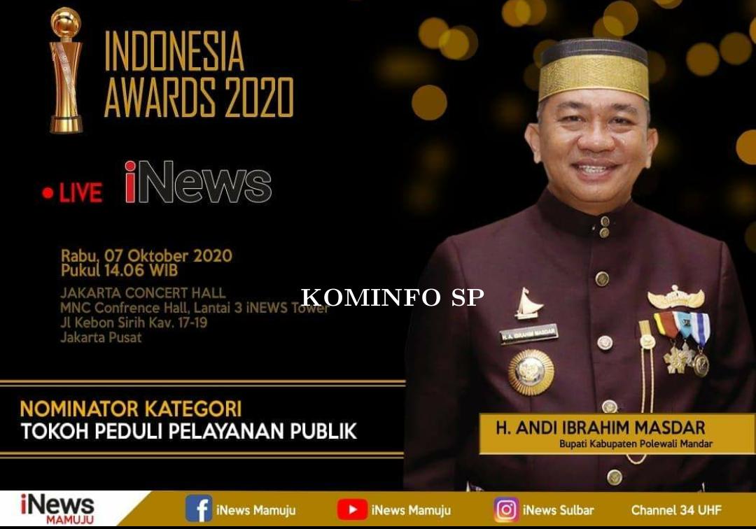 AIM, Menerima Penghargaan sebagai TOKOH PEDULI PELAYANAN PUBLIK pada ajang Indonesia Award 2020